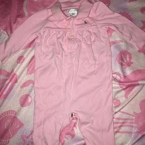 Ralph Lauren Polo Long-Sleeved Onesie- Size 6 mos